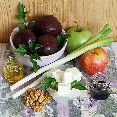 Zutaten für Rote-Beete-Salat mit Feta