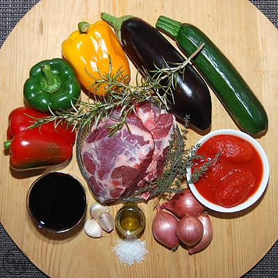 Zutaten für Lammtopf a la provencale