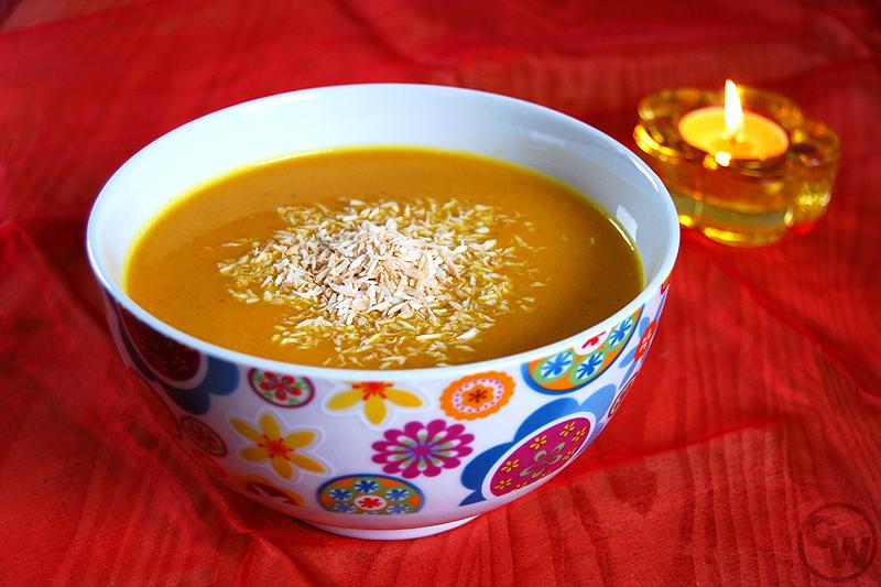 Feurige Karotten-Kokos-Suppe